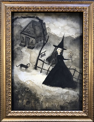 "SOLD Sophia Rapata ""When A Witch Goes Off To Work"""