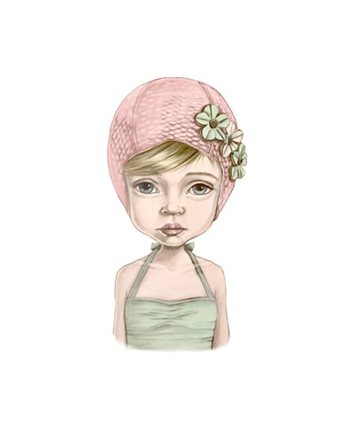 "Cindy Scaife ""Bathing Cap Girl"""