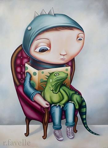 """Rachel Favelle """"Lizard Boy"""""""