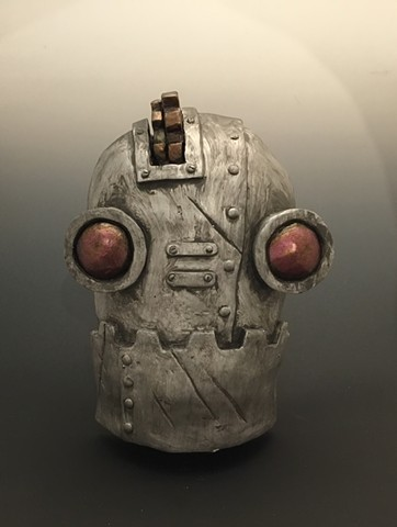 "Impossible Winterbourne  ""SteamBot Face"" Pewter"