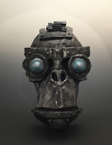 "Impossible Winterbourne  ""MechMonkey Face"" Steel with Blue Eyes"""