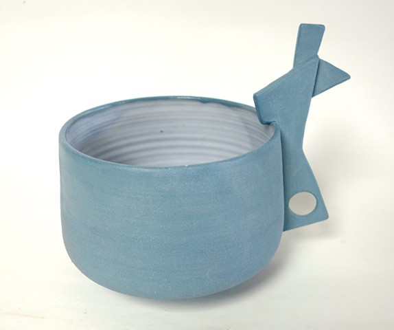 Blue Handle Bowl