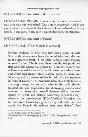 some war writings of gertrude stein  page twenty-four