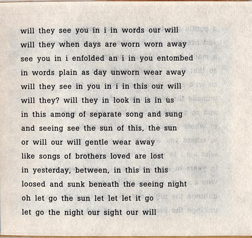 will they see you in i in words our will  from brazilia you  pas de chance press, 2004