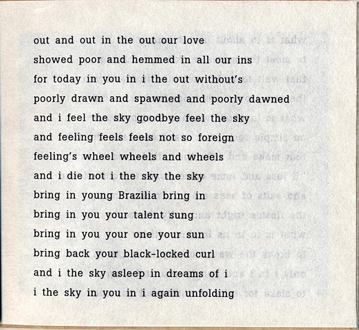 out and out in the out our love  from brazilia you  pas de chance press, 2004