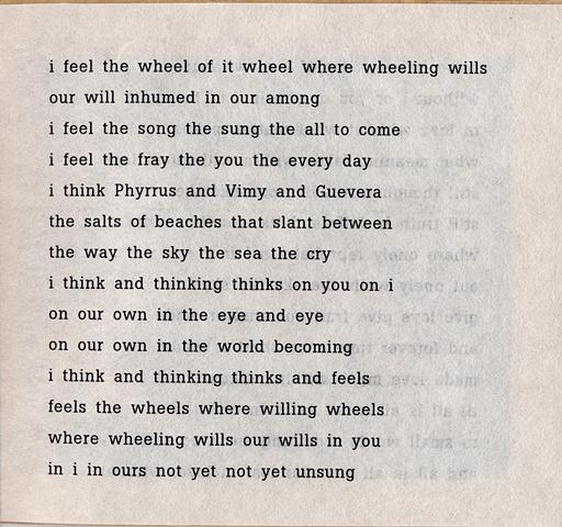 i feel the wheel of it wheel where wheeling wills  from brazilia you  pas de chance press, 2004