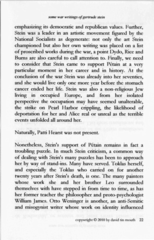 some war writings of gertrude stein  chapter one, page twenty-two