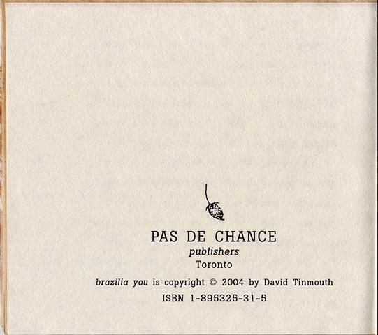 brazilia you rights page   pas de chance press, 2004