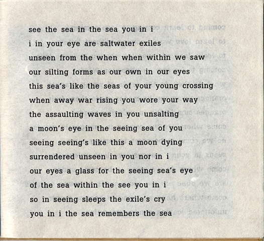 sea the sea in the see you in i  from brazilia you  pas de chance press, 2004