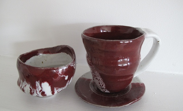 Red tea set
