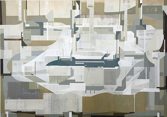 ABSTRACT GEOMETRIC ART BY IRISH PAINTER JAMES KENNEDY