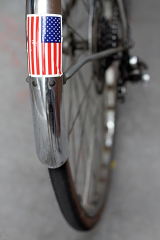 Bicycle With Flag