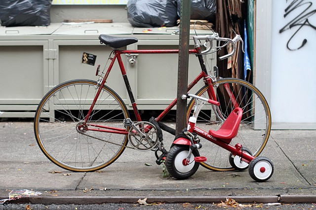 Bicycle With Tricycle