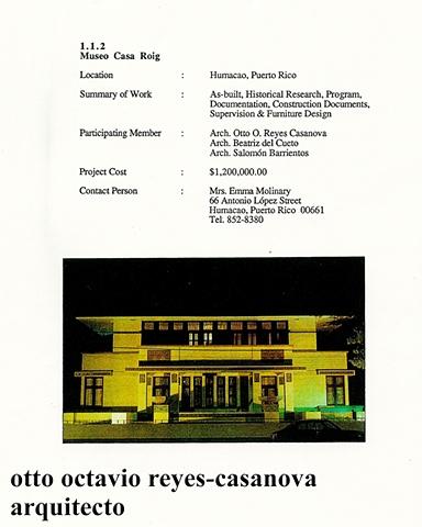 Casa Roig, 1990