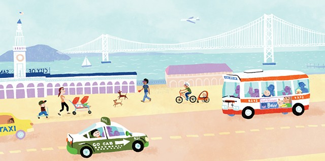 Violet Lemay, children's book illustrator, picture book illustrator, San Francisco, San Francisco Baby
