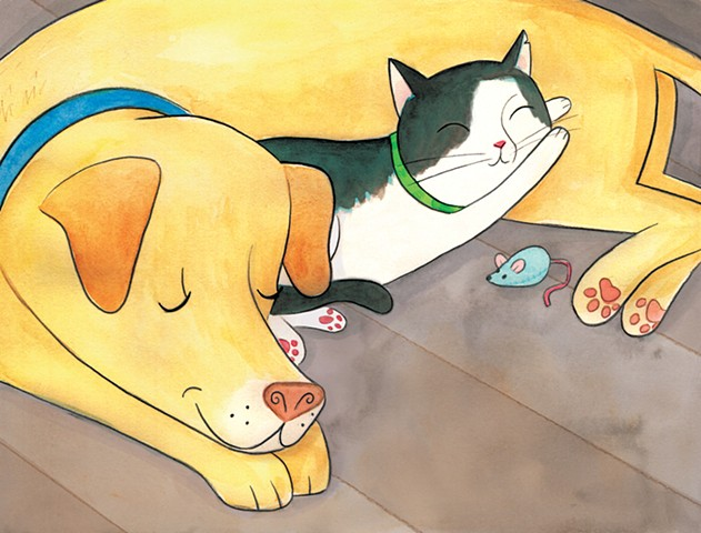 ASPCA Rescue Readers, Lori Froeb, I Am Daisy, cat illustration, dog illustration, Violet Lemay