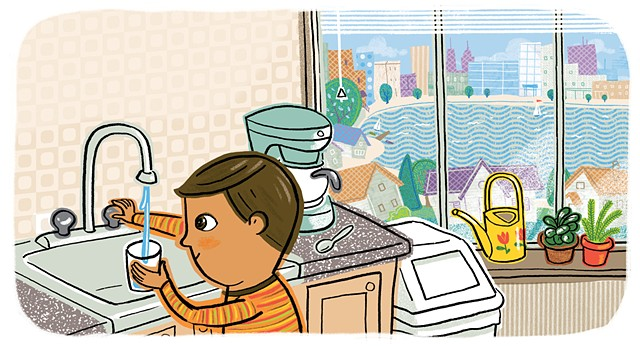 Violet Lemay, illustration, city, How a City Works, kidlit, city skyline