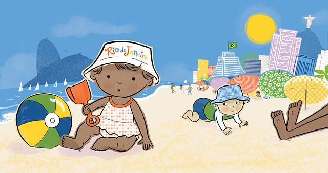 Rio de Janeiro, Rio, Christ the Redeemer, babies, beach, soccer, racial harmony, global village, travel, Violet Lemay