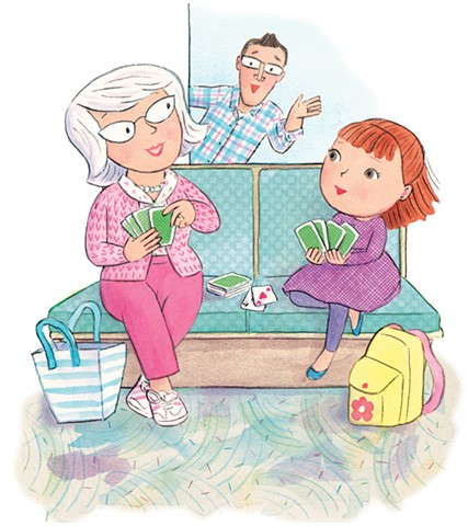 Bella's New Baby, children's book, Violet Lemay, baby illustration, children's book illustrator, maternity ward, new sibling