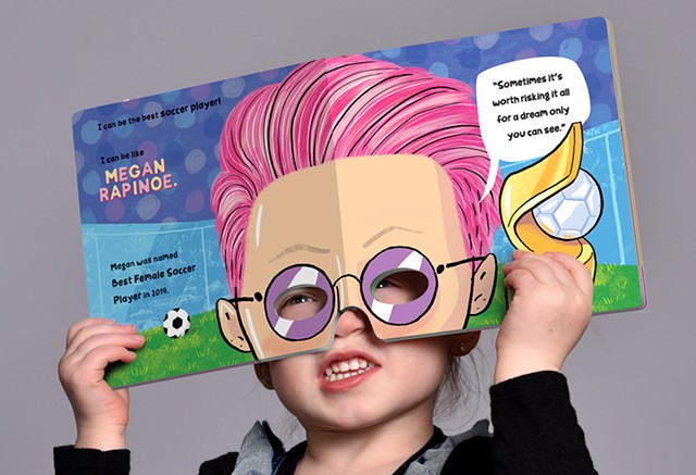 Violet Lemay, children's book illustrator, kidlit artist, book for girl, Megan Rapinoe