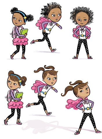 Violet Lemay, character design, superhero, supergirl, strong girl, role model, tween, cute, illustration, YA, book illustration