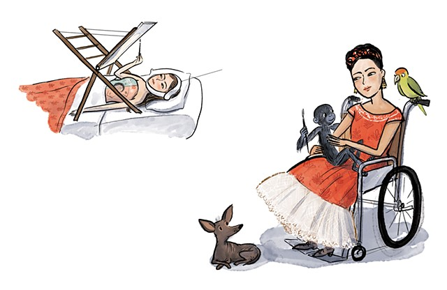 Frida Khalo, Violet Lemay, children's book illustrator, middle grade biography, kidlit artist