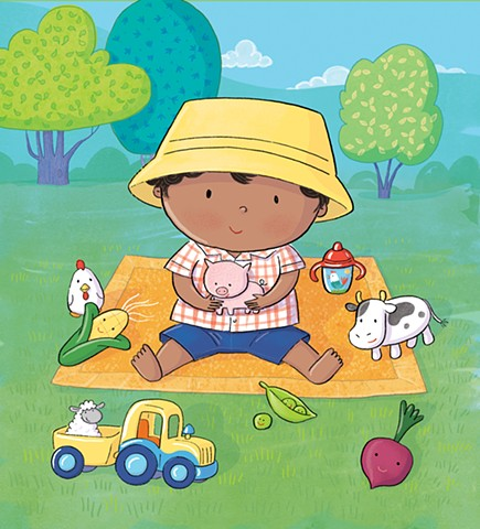 Violet Lemay, baby illustration, picnic, children's book illustrator