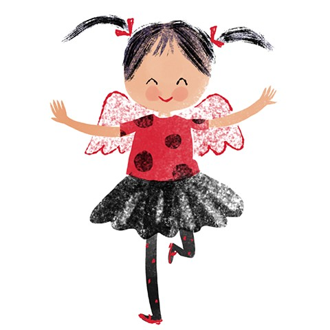 Violet Lemay, children's book illustrator, children's book illustration, kidlitart, cute ladybug costume