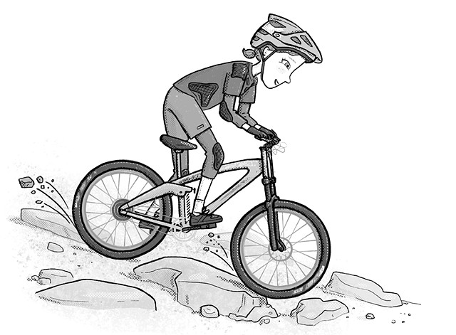 Violet Lemay, kidlit illustrator, art for tweens, mountain bike, shred girls, fearless, strong girls