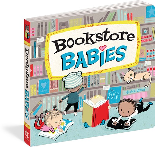 Violet Lemay, illustration, kidlit, bookstore, babies, cute, Bookstore Babies, books, board books, books for babies