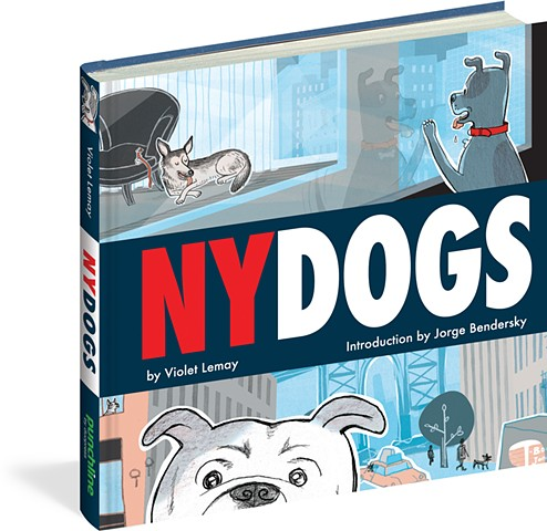 NY Dogs, Violet Lemay, NYC, dogs, dog-lovers, dogs in the city, city dogs, illustration, funny dog book