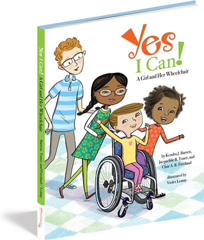 Violet Lemay, Yes I Can, wheelchair, Magination Press, spina bifida, disablilty, strong kids, strong girl, illustration, kidlit