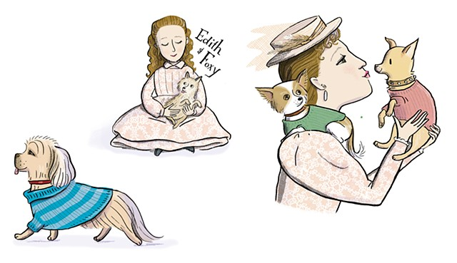 Edith Wharton, Edith Wharton as a girl, , Violet Lemay, Artists and Their Pets, kidlit artist, middlegrade artist, children's book illustrator, picture book illustrator