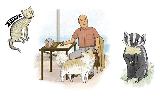Pablo Neruda, Neruda's pets, Violet Lemay, Artists and Their Pets, kidlit artist, middlegrade artist, children's book illustrator, picture book illustrator