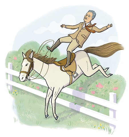 William Faulkner, Faulkner thrown from horse, Violet Lemay, Artists and Their Pets, kidlit artist, middlegrade artist, children's book illustrator, picture book illustrator