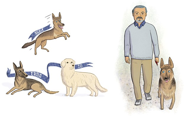 Maurice Sendak, Sendak and his dogs, Violet Lemay, Artists and Their Pets, kidlit artist, middlegrade artist, children's book illustrator, picture book illustrator