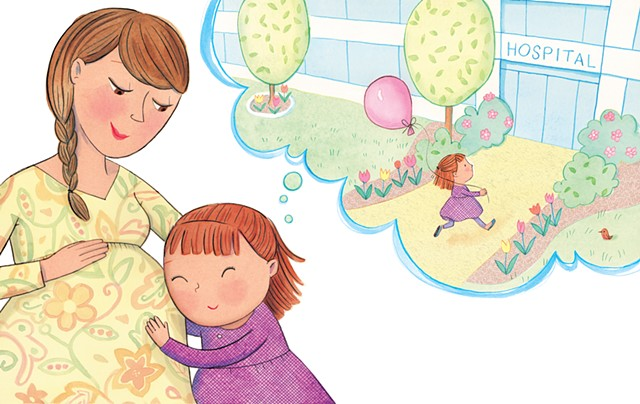 Violet Lemay, children's book illustrator, picture book, maternity, new sibling