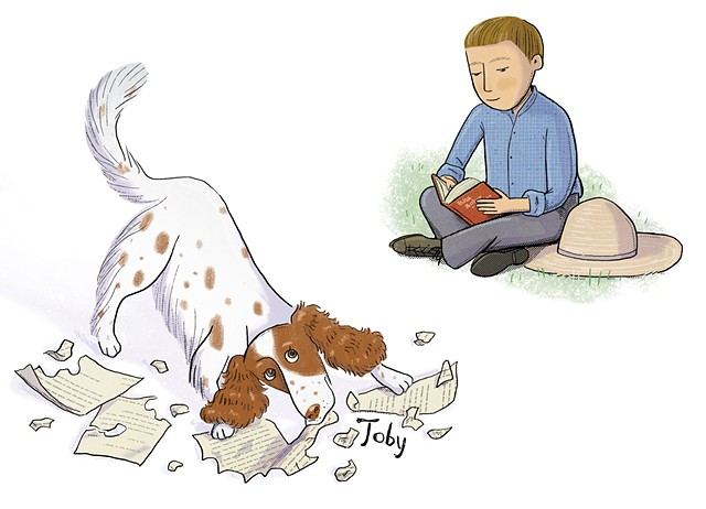 John Steinbeck, Steinbeck as a boy, Steinbeck's dog Toby, Violet Lemay, Artists and Their Pets, kidlit artist, middlegrade artist, children's book illustrator, picture book illustrator