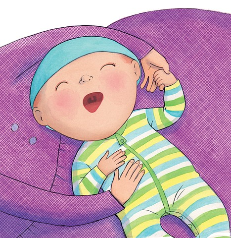 Bella's New Baby, children's book illustrator, new sibling, baby illustration, Violet Lemay