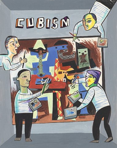 Violet Lemay, children's book illustrator, picture book, kidlitart, cubism