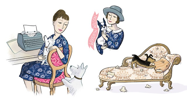 Dorothy Parker, Dorothy Parker's dogs, Violet Lemay, Artists and Their Pets, kidlit artist, middlegrade artist, children's book illustrator, picture book illustrator