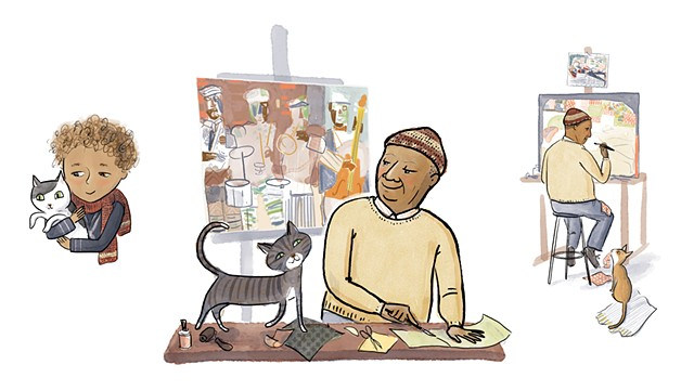 Romare Bearden, Violet Lemay, children's book illustrator, middle grade illustrator, middle grade biography, kidlit artist