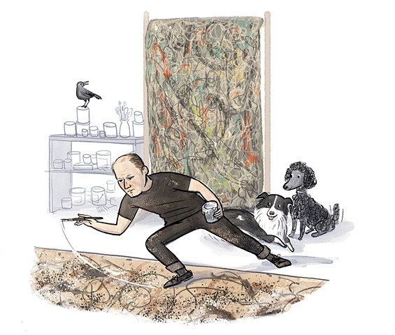 Jackson Pollock, Violet Lemay, children's book illustrator, middle grade illustrator, middle grade biography, kidlit artist