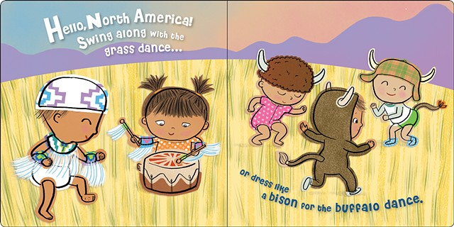 book illustrator, Native American dance, buffalo dance, grass dance, prairie, great plains, diverse book, diversity, culture