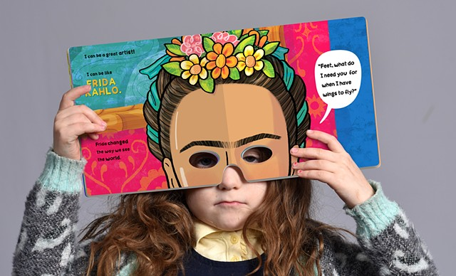 Violet Lemay, children's book illustrator, kidlit artist, book for girl, Frida Kahlo
