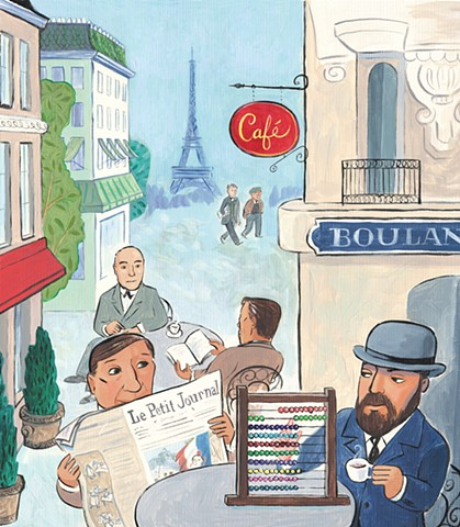 Violet Lemay, children's book illustrator, picture book, kidlitart, Paris