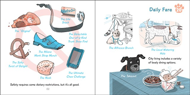 NY Dogs, Violet Lemay, punchline, illustration, city dogs, dogs in NY, New York, NYC, dog-lovers, funny dog book