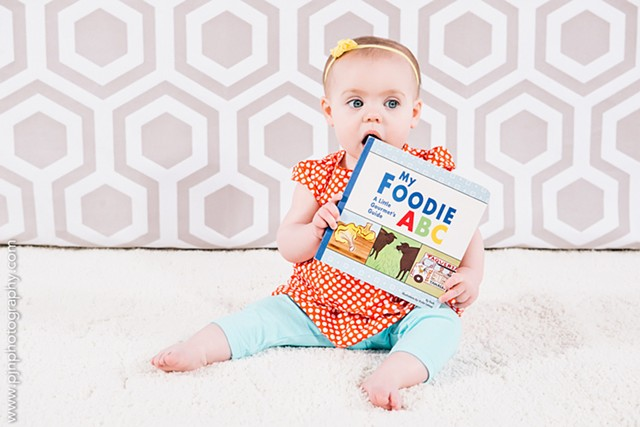 Violet Lemay, children's book illustrator, My Foodie ABC, food book for baby