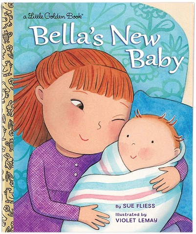 Bella's New Baby, children's book, Random House, Violet Lemay, baby illustration, Little Golden Book
