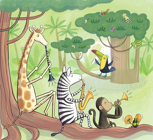 Violet Lemay, children's book illustrator, art for children, jungle animals